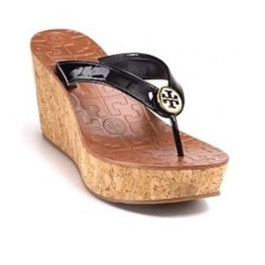 Tori Burch cork wedge